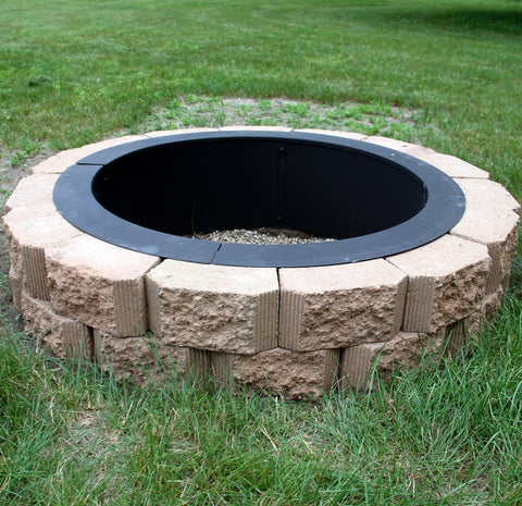 Fire pit liner used with this brick fire pit.