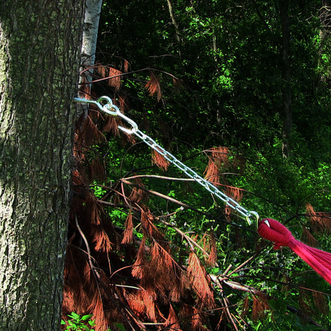 Hang hardware kit used to hang a hammock from a tree.