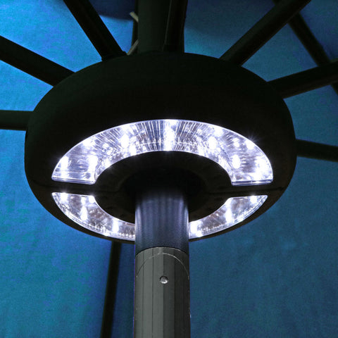 These patio umbrella LED lights will help light up your night.