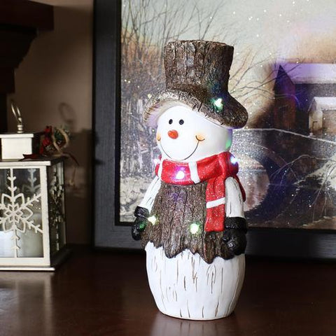 This indoor snowman statue is a great decor item to have when decorating your living room for Christmas.