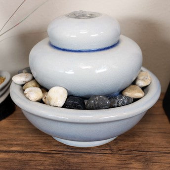 Ceramic water fountain is a great choice to create feng shui