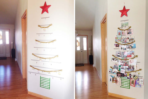 Turn your Christmas cards and photos into a decorative tree this holiday season.