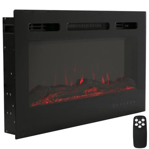 An electric fireplace is a great way to bring warmth to your room this holiday season.