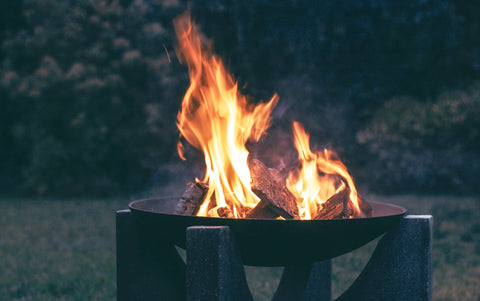 An example of what your flame will look like when you properly start a fire in a fire pit.