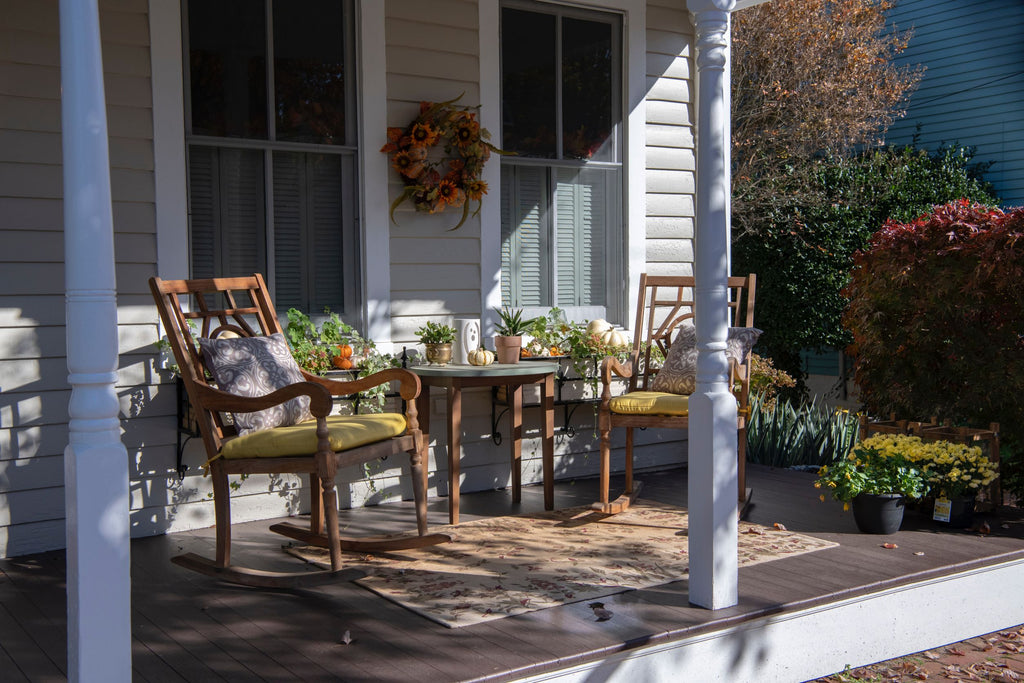Front Porch Chairs with Rug