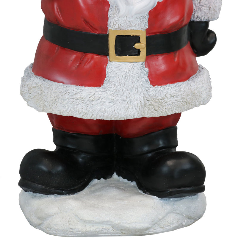 Sunnydaze Journeying Santa Claus Indoor Statue with Light Projector, Polyresin, 27-Inch