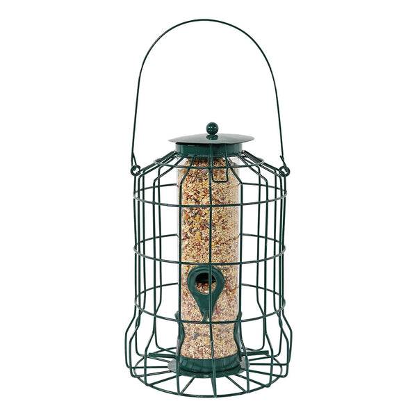 Sunnydaze 10-Inch Green 4-Peg Outdoor Wild Bird Feeder