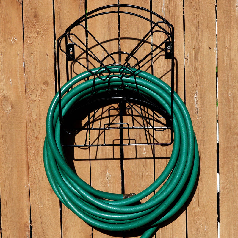 Sunnydaze Metal Garden Hose Stand with Classic Dutch Windmill Design - 42-Inch