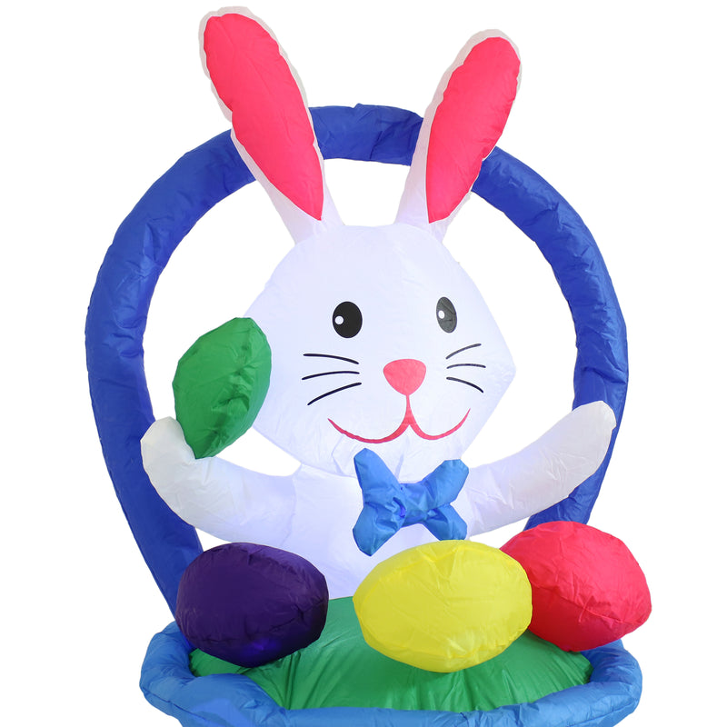 Sunnydaze Large Inflatable Easter Decoration with Fan Blower- 45-Inch Bunny in a Basket