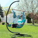 Sunnydaze Hanging Padded Soft Cushioned Hammock Chair with Stand