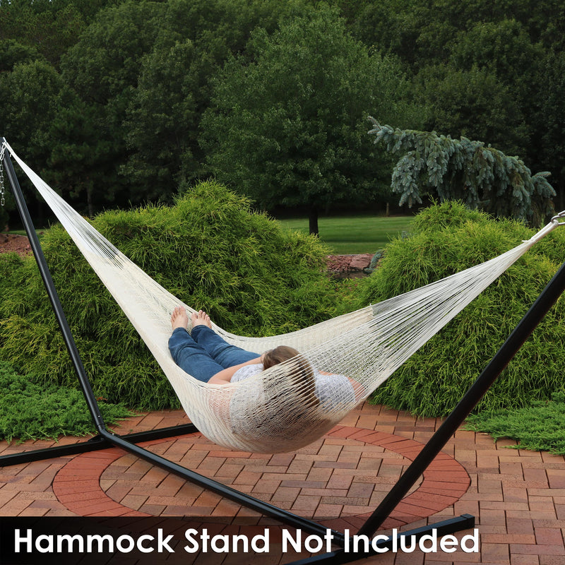 Sunnydaze Portable Handwoven 1 Person Mayan Hammock, Single Size, 330 Pound Capacity