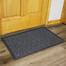 "Sunnydaze 17"" x 29.5"" Indoor/Outdoor Entrance Mat - Gray Geometric Cube"
