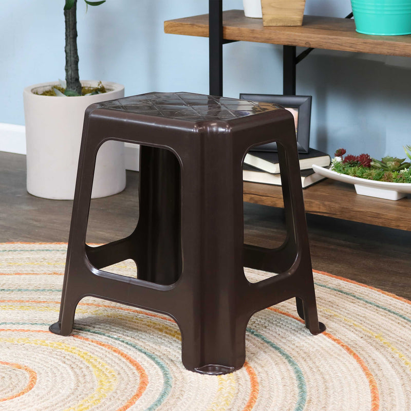 Sunnydaze Brown Step Stool - 260-Pound Weight Capacity - 16-Inch