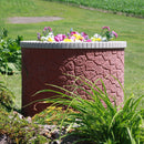 TankTop Covers Decorative 35-Inch Basin Septic, Well, Lawn and Garden Enclosure with 2-Piece 5-Inch Planter Inserts