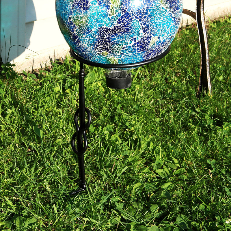 Sunnydaze Single Stem Metal Gazing Globe Stand, 15-Inch