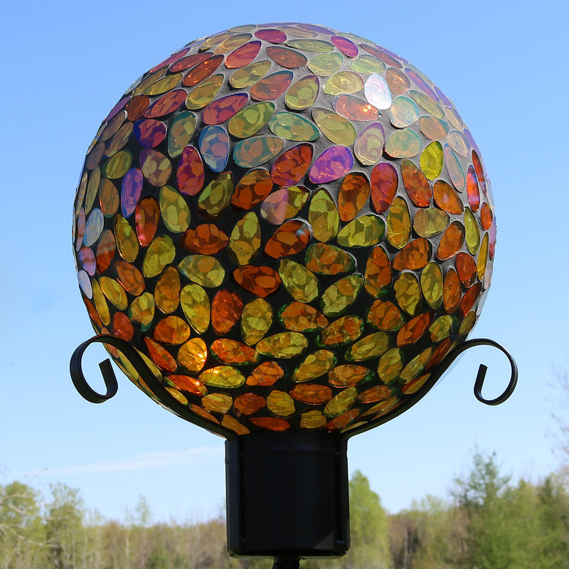 Sunnydaze Mosaic Glass Gazing Globe Ball, 10-Inch, Color Options Available