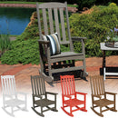 Sunnydaze All-Weather Rocking Chair with Faux Wood Design
