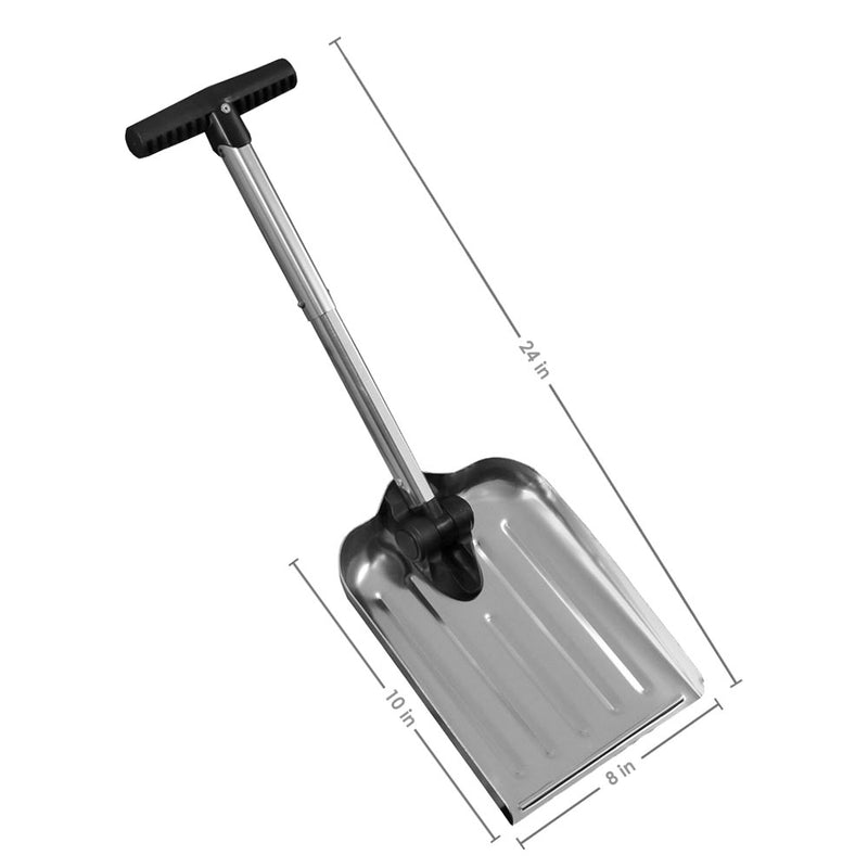 CASL Brands Compact Folding Utility Shovel with 8-Inch x 10-Inch Blade and Carrying Bag