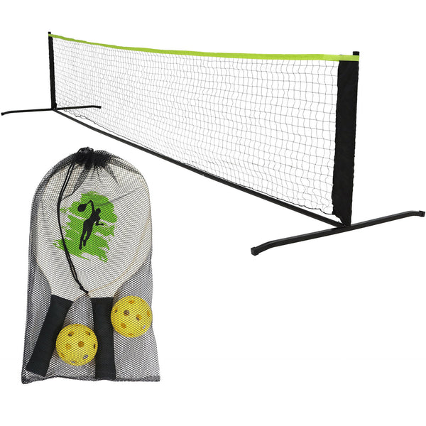 Pickelball net and paddles