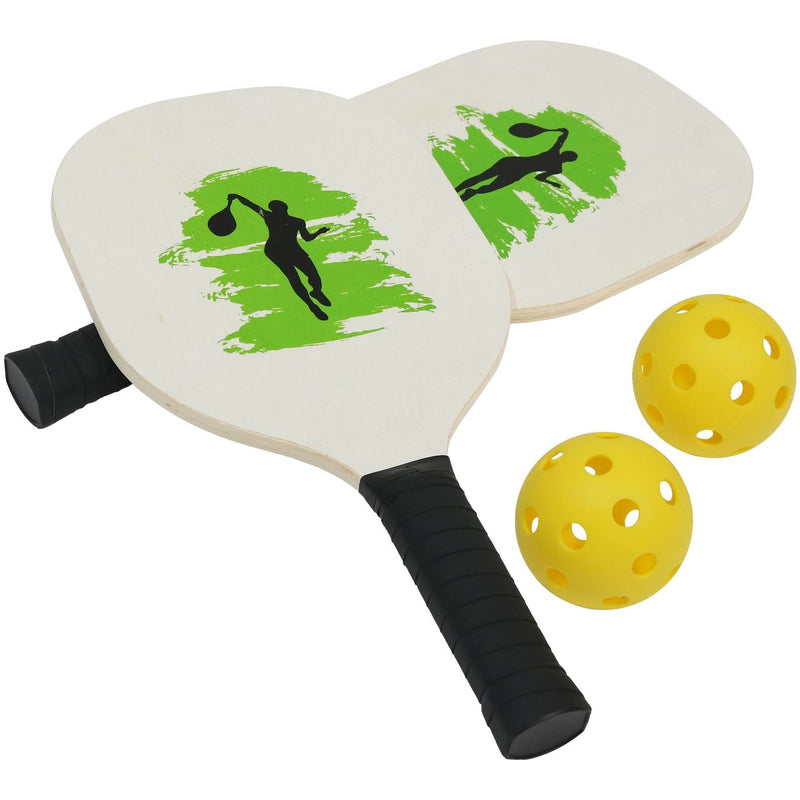 Pickleball paddles with balls