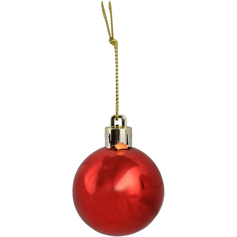 Sunnydaze 24ct 40mm Merry and Bright Shatterproof Christmas Ornaments