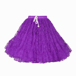 Petticoat 2 laags kant paars