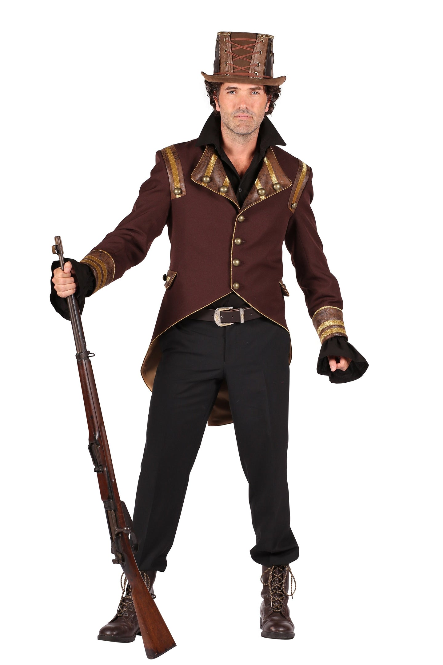 HEREN STEAMPUNK JAS JACKET BRUUIN