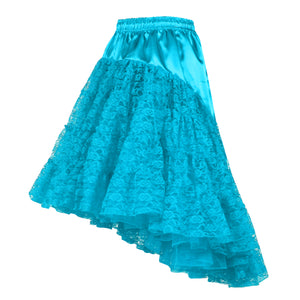 Petticoat lang kant turquoise