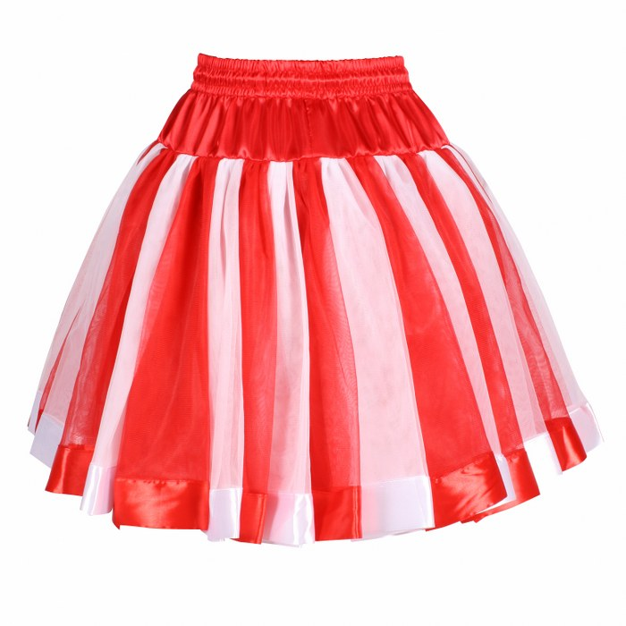 Petticoat tubes 2 laags rood - wit