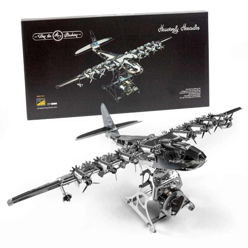 Kit Puzzle Mecanic 3D, Metal, TimeForMachine, Model Avion Heavenly Hercules