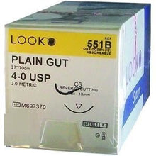 Load image into Gallery viewer, Look Plain Gut Sutures Absorbable  Cuticular Reverse Cutting, 12/Box