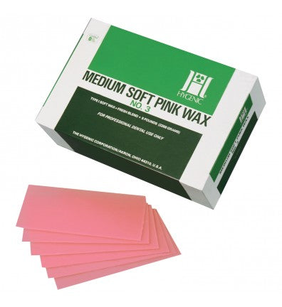 Medium Soft Wax Materials  No 3 , Pink  Base Plate Wax,