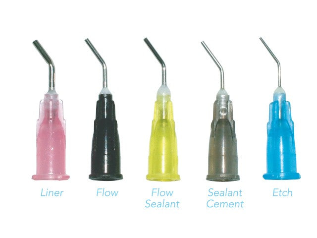 Pre Bent Needles Dispensing Tips , 100/Pk (Flowable Tip,EtchTip ,Sealant,Liner,Sealant Cement Tips)