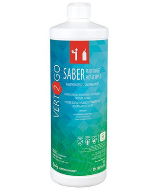 Vert 2 Go Saber Ready-to-Use Cleaning Disinfectant 1L PPE