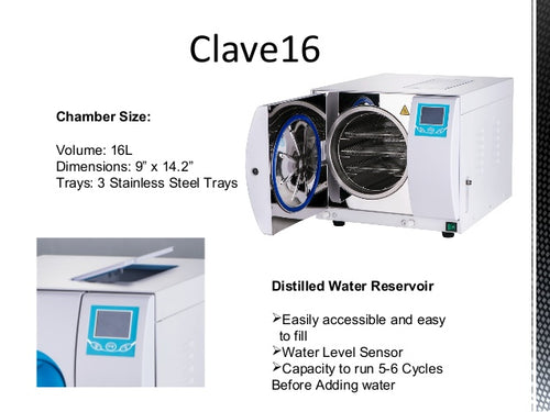 Autoclave 16+ With Compressor Class N , Flight Dental