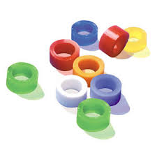 Instruments Assorted Color Code Rings Silicone,