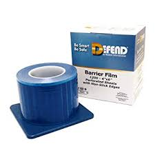 Barrier Film Blue Sticky Wrap 1200/Sheet with Dispenser PPE