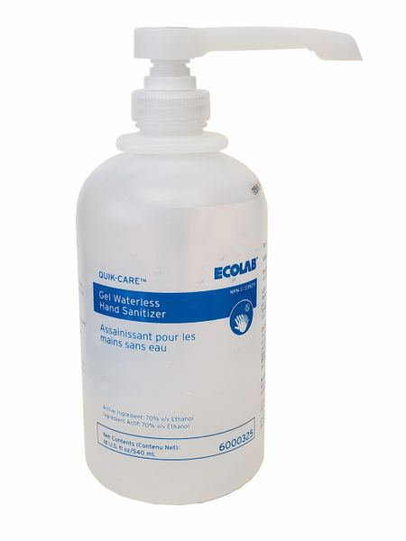 Hand Gel Waterless Hand Sanitizer, 540/ml -Ecolab