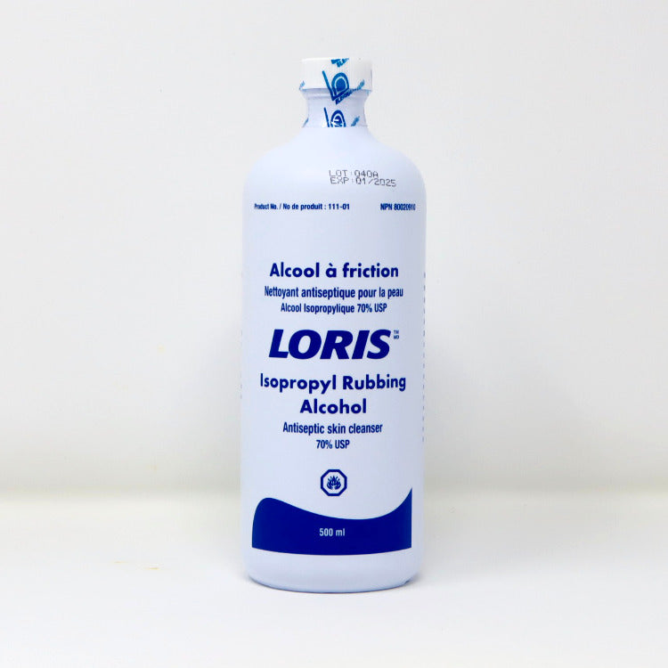 LORIS Isopropyl Rubbing Alcohol Antiseptic Cleansing  500ml 6/Case