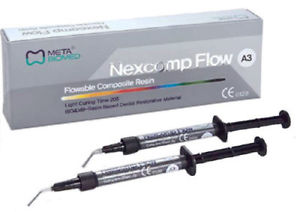 Nexcomp Flowable Composite 2x2g Syringes with Tips