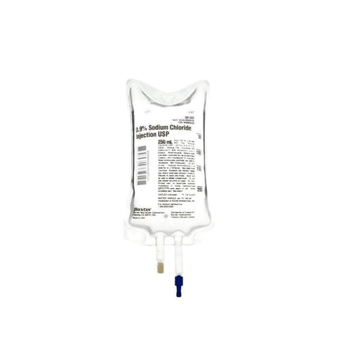 0.9% NACL SODIUM CHLORIDE Implant Irrigation INJECTIONS - 250ML IV SALINE BAGS