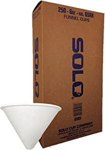 Evacuation Cup Liners , Solo Funnel Cups 6oz  250/Pkg