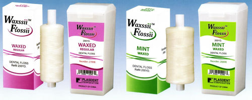 Dental Floss Waxed Mint , 200 YD/Roll- With Dispenser