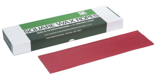 Hygenic-Utility Wax Square Wax Ropes . Red 44/Box #H00819