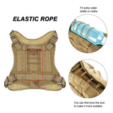 Tactical large dog breed harness very adjustable