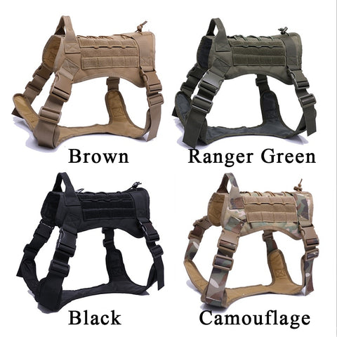 camo dog harness for large dogs