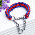 Martingale paracord dog collar