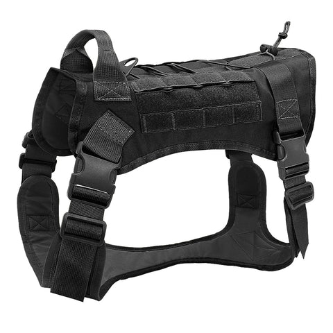 Tactical large dog breed harness black