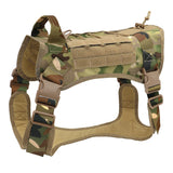 Tactical large dog breed harness camouflage