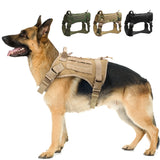 Tactical large dog breed harness three colors available